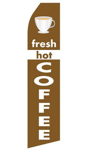 Fresh Hot Coffee Feather Flags | Stock Design - Minuteman Press formely La Luz Printing Company | San Antonio TX Printing-San-Antonio-TX