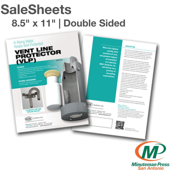 Full Color Salesheets | Double Sided - Minuteman Press San Antonio TX Printing Company-San-Antonio-TX