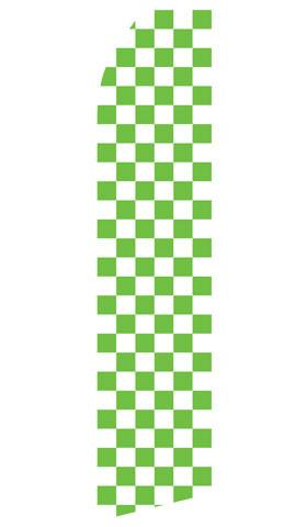 Green Checkered Feather Flag | Stock Design - Minuteman Press formely La Luz Printing Company | San Antonio TX Printing-San-Antonio-TX