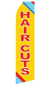 Haircuts Feather Flags | Stock Design - Minuteman Press formely La Luz Printing Company | San Antonio TX Printing-San-Antonio-TX