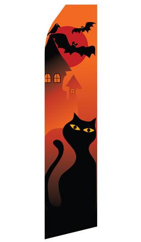 Halloween Cat Feather Flags | Stock Design - Minuteman Press formely La Luz Printing Company | San Antonio TX Printing-San-Antonio-TX