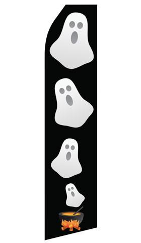 Halloween Ghost Feather Flags | Stock Design - Minuteman Press formely La Luz Printing Company | San Antonio TX Printing-San-Antonio-TX