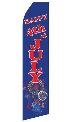 Happy 4th of July Feather Flags | Stock Design - Minuteman Press formely La Luz Printing Company | San Antonio TX Printing-San-Antonio-TX