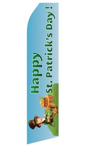 Happy St. Patricks Day Feather Flags | Stock Design - Minuteman Press formely La Luz Printing Company | San Antonio TX Printing-San-Antonio-TX