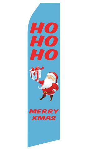 HOHOHO Merry Xmas Feather Flags | Stock Design - Minuteman Press formely La Luz Printing Company | San Antonio TX Printing-San-Antonio-TX