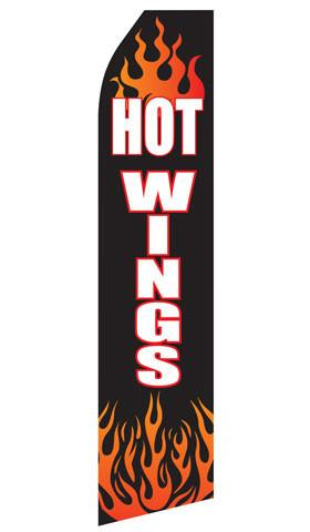 Hot Wings Feather Flag | Stock Design - Minuteman Press formely La Luz Printing Company | San Antonio TX Printing-San-Antonio-TX