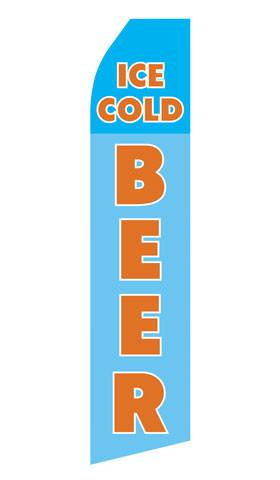 Ice Cold Beer Feather Flags | Stock Design - Minuteman Press formely La Luz Printing Company | San Antonio TX Printing-San-Antonio-TX