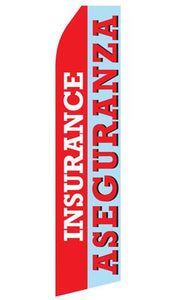 Insurance Aseguranza Feather Flags | Stock Design - Minuteman Press formely La Luz Printing Company | San Antonio TX Printing-San-Antonio-TX