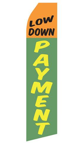 Low Down Payment Feather Flag | Stock Designs - Minuteman Press formely La Luz Printing Company | San Antonio TX Printing-San-Antonio-TX