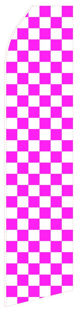 Magenta Chessboard Feather Flag | Stock Design - Minuteman Press formely La Luz Printing Company | San Antonio TX Printing-San-Antonio-TX
