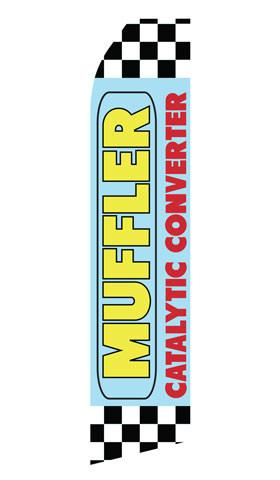 Muffler Catalytic Converter Feather Flag | Stock Design - Minuteman Press formely La Luz Printing Company | San Antonio TX Printing-San-Antonio-TX