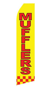 Mufflers Feather Flag | Stock Design - Minuteman Press formely La Luz Printing Company | San Antonio TX Printing-San-Antonio-TX
