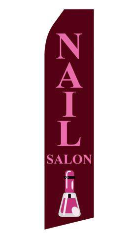Nail Salon Feather Flags | Stock Design - Minuteman Press formely La Luz Printing Company | San Antonio TX Printing-San-Antonio-TX