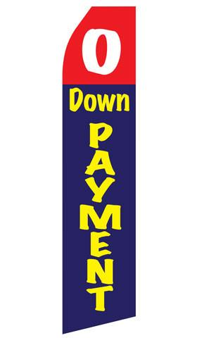 No Down Payment Feather Flags | Stock Design - Minuteman Press formely La Luz Printing Company | San Antonio TX Printing-San-Antonio-TX