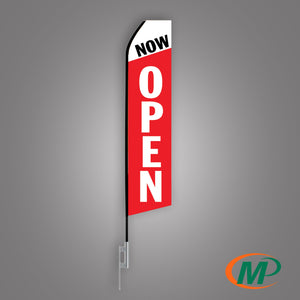Now Open Feather Flag - Minuteman Press formely La Luz Printing Company | San Antonio TX Printing-San-Antonio-TX