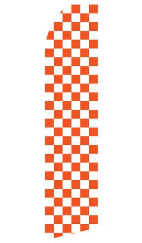 Orange Checkered Feather Flag | Stock Design - Minuteman Press formely La Luz Printing Company | San Antonio TX Printing-San-Antonio-TX