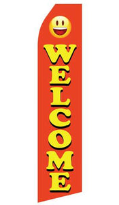 Orange Welcome Feather Flag | Stock Design - Minuteman Press formely La Luz Printing Company | San Antonio TX Printing-San-Antonio-TX