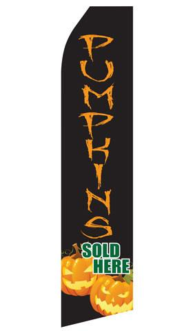 Pumpkins Sold Here Feather Flag | Stock Design - Minuteman Press formely La Luz Printing Company | San Antonio TX Printing-San-Antonio-TX