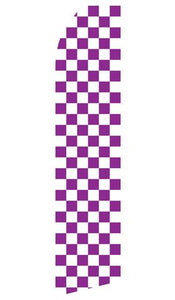 Purple Checkered Feather Flag | Stock Design - Minuteman Press formely La Luz Printing Company | San Antonio TX Printing-San-Antonio-TX