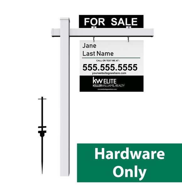 Real Estate Post | Hardware Only - Minuteman Press formely La Luz Printing Company | San Antonio TX Printing-San-Antonio-TX
