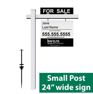 "Real Estate Small Post | Holds Up to 24"" sign - Minuteman Press formely La Luz Printing Company 