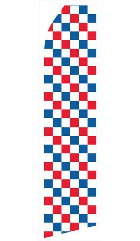 Red, Blue and White Checkered Feather Flags | Stock Design - Minuteman Press formely La Luz Printing Company | San Antonio TX Printing-San-Antonio-TX