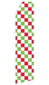 Red, Green and White Checkered Feather Flags | Stock Design - Minuteman Press formely La Luz Printing Company | San Antonio TX Printing-San-Antonio-TX