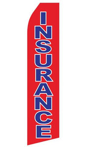 Red Insurance Feather Flags | Stock Design - Minuteman Press formely La Luz Printing Company | San Antonio TX Printing-San-Antonio-TX