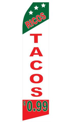 Ricos Tacos Feather Flags | Stock Design - Minuteman Press formely La Luz Printing Company | San Antonio TX Printing-San-Antonio-TX