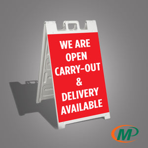 We Are OPEN Sidewalk Signs