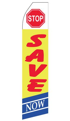 Stop Save Here Feather Flags | Stock Design - Minuteman Press formely La Luz Printing Company | San Antonio TX Printing-San-Antonio-TX