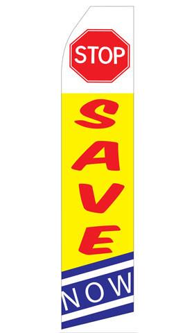 Stop Save Now Feather Flag | Stock Design - Minuteman Press formely La Luz Printing Company | San Antonio TX Printing-San-Antonio-TX