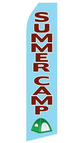 Summer Camp Feather Flag | Stock Design - Minuteman Press formely La Luz Printing Company | San Antonio TX Printing-San-Antonio-TX