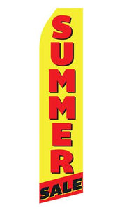 Summer Sale Feather Flag | Stock Design - Minuteman Press formely La Luz Printing Company | San Antonio TX Printing-San-Antonio-TX