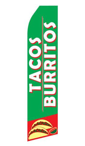 Tacos and Burritos Feather Flag | Stock Design - Minuteman Press formely La Luz Printing Company | San Antonio TX Printing-San-Antonio-TX