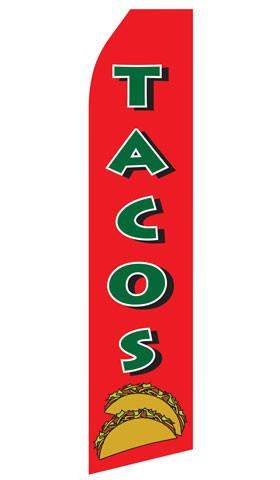Tacos Feather Flag | Stock Design - Minuteman Press formely La Luz Printing Company | San Antonio TX Printing-San-Antonio-TX
