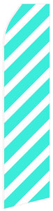 Wide Cyan Ribbon Feather Flag | Stock Design - Minuteman Press formely La Luz Printing Company | San Antonio TX Printing-San-Antonio-TX