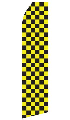 Yellow and Black Checkered Feather Flags | Stock Design - Minuteman Press formely La Luz Printing Company | San Antonio TX Printing-San-Antonio-TX