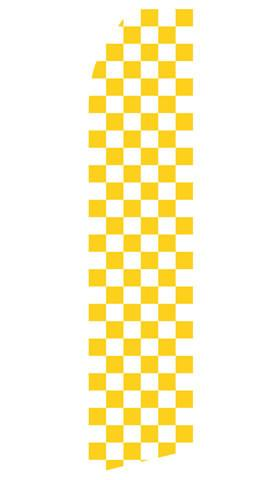Yellow Checkered Feather Flag | Stock Design - Minuteman Press formely La Luz Printing Company | San Antonio TX Printing-San-Antonio-TX