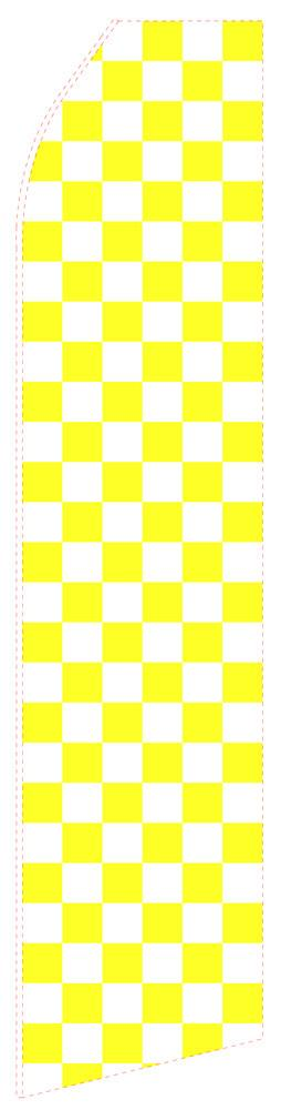 Yellow Chessboard Feather Flag | Stock Design - Minuteman Press formely La Luz Printing Company | San Antonio TX Printing-San-Antonio-TX