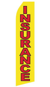 Yellow Insurance Feather Flags | Stock Design - Minuteman Press formely La Luz Printing Company | San Antonio TX Printing-San-Antonio-TX