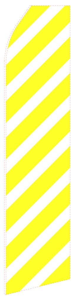 Yellow Striped Feather Flag | Stock Design - Minuteman Press formely La Luz Printing Company | San Antonio TX Printing-San-Antonio-TX