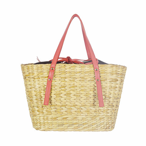 Red Basket Tote Bag