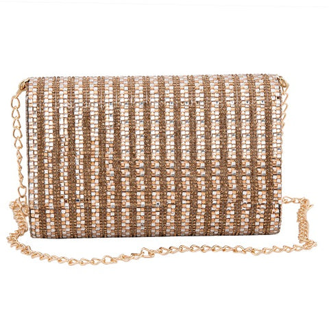 Golden Crystal Cube Clutch - Niche