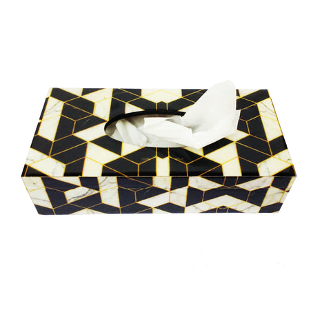 Checkmate Collection Tissue Box - Niche