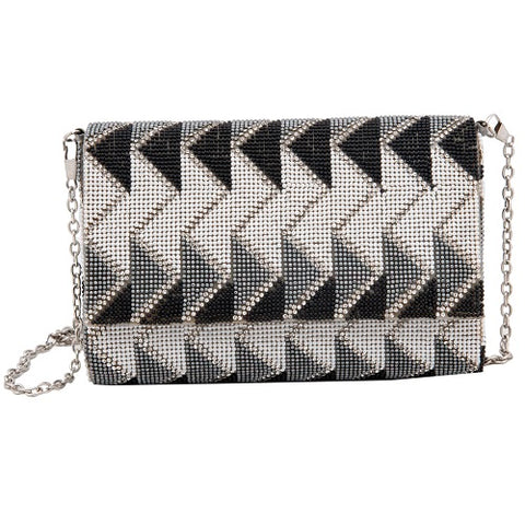 Black & White Zig-Zag Clutch - Niche