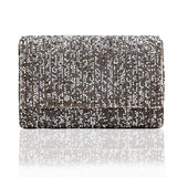 Silver Grey Stone Glitz Party Clutch