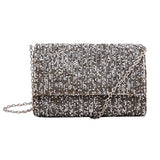 Silver Grey Stone Glitz Party Clutch - Niche