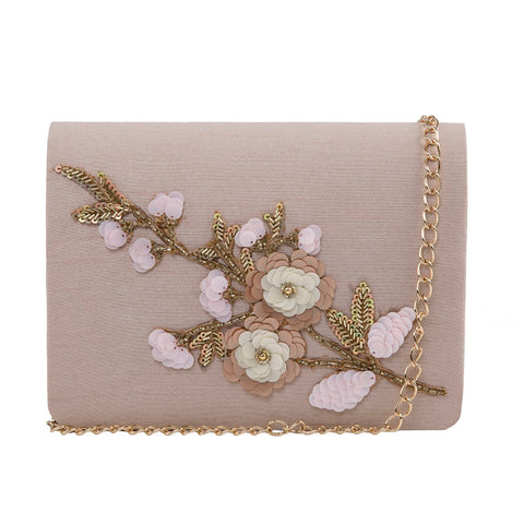 Rose Bush Pastel Floral Clutch