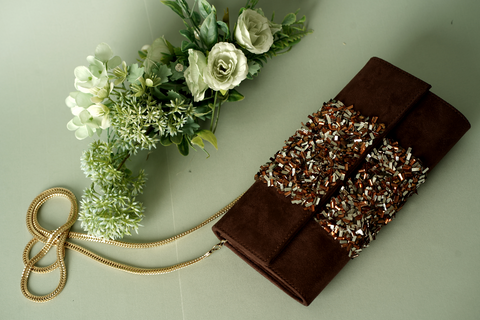 Brown Candy  Hand Clutch